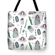 Jellyfish Repeat Print Tote Bag by Susan Claire