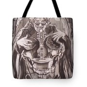 Jerry Garcia . . Magic Is What We Do - Music Is How We Do It Tote Bag by Sean Connolly