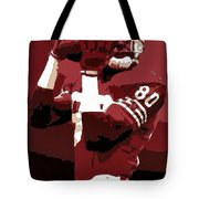 Jerry Rice Poster Art Tote Bag by Florian Rodarte