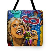 Jester Statue At The Fair Tote Bag by Garry Gay