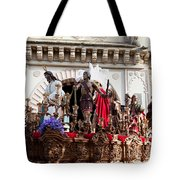 Jesus Christ And Roman Soldiers On Procession Tote Bag by Artur Bogacki
