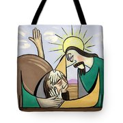 Jesus Will Meet You Where You Are Tote Bag by Anthony Falbo