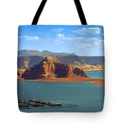 Jewel In The Desert - Lake Powell Tote Bag by Christine Till