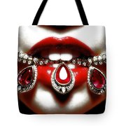 Jewelips Soft Red Tote Bag by Jean raphael Fischer