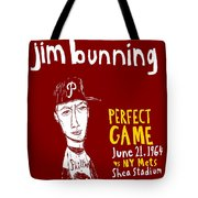 Jim Bunning Philadelphia Phillies Tote Bag by Jay Perkins