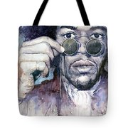 Jimi Hendrix 08 Tote Bag by Yuriy  Shevchuk