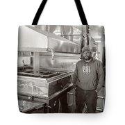 Jimmy at Mt Cube Sugar Farm Tote Bag by Edward Fielding