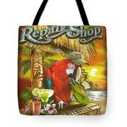 Jimmy Buffett's Flip Flop Repair Shop Tote Bag by Desiderata Gallery