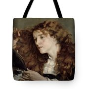 Jo The Beautiful Irish Girl Tote Bag by Gustave Courbet
