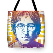 John Lennon Pop Art Tote Bag by Jim Zahniser