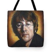 John Lennon Tote Bag by Tim  Scoggins