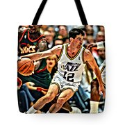 John Stockton Tote Bag by Florian Rodarte