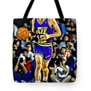 John Stockton Portrait Tote Bag by Florian Rodarte