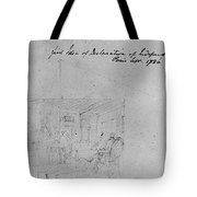 John Trumbull Sketch Tote Bag by Granger