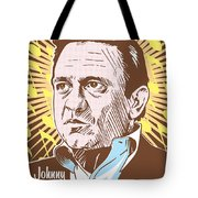 Johnny Cash Pop Art Tote Bag by Jim Zahniser