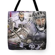 Jonathan Quick Collage Tote Bag by Mike Oulton