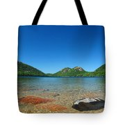 Jordan Pond And The Bubbles Tote Bag by Juergen Roth