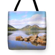 Jordan Pond Tote Bag by Roupen  Baker