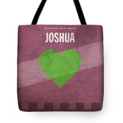 Joshua Books Of The Bible Series Old Testament Minimal Poster Art Number 6 Tote Bag by Design Turnpike