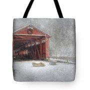 Josiah Hess Covered Bridge Tote Bag by Lori Deiter