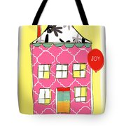 Joy House Card Tote Bag by Linda Woods
