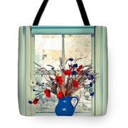 Jug Of Flowers Tote Bag by Tom Gowanlock