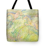Jumping Horses Tote Bag by Franz Marc