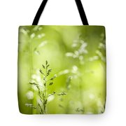 June Green Grass Flowering Tote Bag by Elena Elisseeva