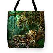 Jungle Spirit - Leopard Tote Bag by Carol Cavalaris