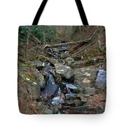 Just A Creek Tote Bag by Skip Willits