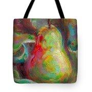 Just A Pear - Impressionist Still Life Tote Bag by Talya Johnson