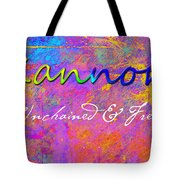 Kannon - Unchained And Free Tote Bag by Christopher Gaston