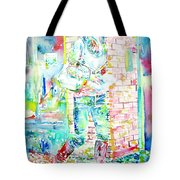 Kate Middleton Portrait.3 Walking In The Street Tote Bag by Fabrizio Cassetta