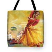 Kathak Dance Tote Bag by Catf