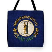 Kentucky State Flag Tote Bag by Pixel Chimp