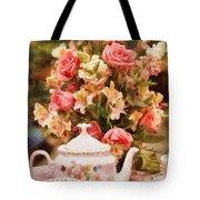 Kettle - More Tea Milady  Tote Bag by Mike Savad