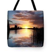 Kinderdijk Sunrise Tote Bag by Dave Bowman