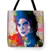 King Of Pop Tote Bag by Anthony Mwangi