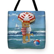 Kiss Me Quick Tote Bag by Peter Adderley