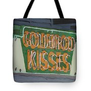 Kisses Neon Sign Tote Bag by Daryl Shaw