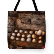 Kitchen - Food - Eggs - 18 Eggs  Tote Bag by Mike Savad