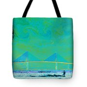 Kiteboarding The Bay Tote Bag by David Lee Thompson