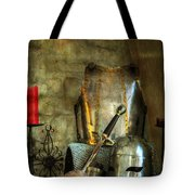 Knight - A Warriors Tribute  Tote Bag by Paul Ward