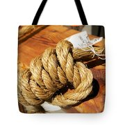Knotted Hemp Tote Bag by Allan Morrison