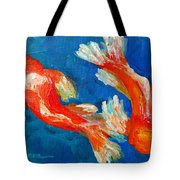 Koi Fish Tote Bag by Patricia Awapara