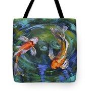 Koi Swirl Tote Bag by Donna Tuten