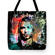 Kurt Cobain Portrait Tote Bag by Gary Grayson