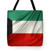 Kuwait Flag  Tote Bag by Les Cunliffe