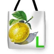L Art Alphabet For Kids Room Tote Bag by Irina Sztukowski