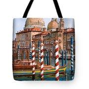 la chiesa della salute sul canal grande Tote Bag by Guido Borelli
